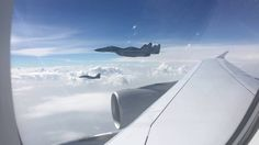 Play video / Lufthansa A380 escorted by MIG=29 fighter jets=video