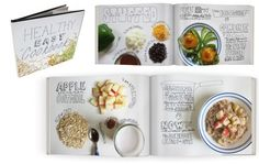 beautiful cookbook design with lots of white space! Graphic Design Layouts, Graphic Design Typography, Layout Design, Print Design, Branding Design, Magazine Design, Food Typography, Identity, Buch Design