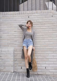 Duster Cardigan And Shorts