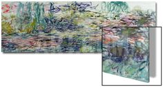 Waterlilies, 1917-19 Art on Acrylic by Claude Monet at Art.com