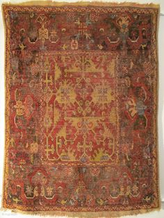 Lotto rug with cloudband border +++ late 17th c. +++144x111cm