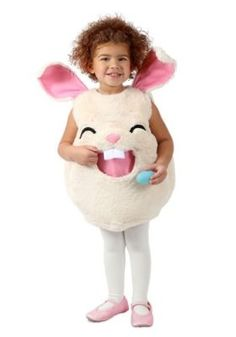 Imagine how cute your child will look for Halloween dressed in this Feed Me Hungry Bunny Costume. This adorable design features a big bunny mouth for storing and carrying all their candy. Big floppy ears finish off this awesome outfit. Animal Costumes For Girls, Bunny Costume Kids, Bunny Halloween Costume, Bug Costume, Rabbit Costume, Toddler Halloween, Toddler Costumes, Girl Costumes, Halloween Costumes For Kids