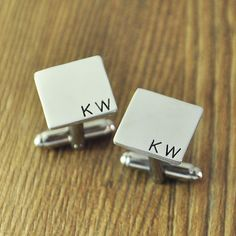 Wholesale Custom Square Initial Cufflinks  by WholesaleNameJewelry, $9.99