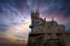 ❥ Castles in the sky~ Swallow's Nest, near Yalta, Ukraine FASHIONISMO VAMP http://www.redevampyrica.com/home/?page_id=7469