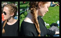 I did this braid last sunday in Regent's park thanks to the beautiful hair of my friend Martina... she's absolutely gorgeous...