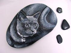 Painted Rocks by Shelli Bowler Custom Pet Portrait  by Naturetrail, $55.00