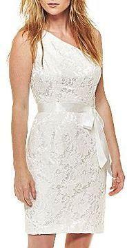 ShopStyle: jcpenney One-Shoulder Lace Dress
