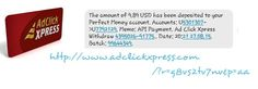 Be your OWN Boss. Work your OWN hours. It's easy to Work From Home! Plan your sure-fire plan for your future NOW! I am getting paid daily at ACX and here is proof of my latest withdrawal. THIS IS NOT A SCAM and I love making money online with Ad Click Xpress. Here is my Withdrawal PROOF from AdClickXpress. I get paid daily and I can withdraw daily. Online income is possible with ACX, who is definitely paying - NO SCAM HERE!