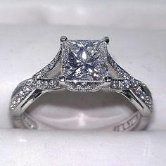 1.50 ct. Tacori Diamond engagement ring in 18k white gold