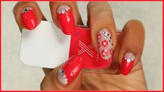 Tired of the usual french #manicure? Turn it into a two-coloured halfmoons #nailart with #rhinestones & #flowers! Video tutorial on my blog here: http://giugizu.blogspot.it/2014/07/diy-rhinestones-and-flowers-nailart.html