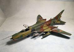 BUILT 1/48 SU-22M4R Fitter K #TrumpeterPEEduardinteriorset