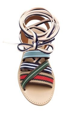 Strappy Multicolor Ankle-Tie Sandals by Band of Outsiders - Moda Operandi