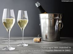 #UK #InterestingFacts #champagne Champagne was invented in England by scientist Christopher Merret in 1662.