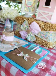 FARM GIRL BIRTHDAY PARTY  in BY LYNNETTE, FARM PARTY, GIRLS PARTIES, KIDS PARTIES on 16/09/16    alf-guest-table3This Farm Girl Birthday Party is so charming. Every detail is rustic and delicate at the same time, and the dessert table is full of farm animal cuteness! You will definitely find ideas and inspiration for your next farm party.