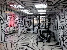 Le Black Supermarket - Paris 3e - ArtStreetic Paris, Abstract, Artwork, Image, Black, Outer Space, Summary, Montmartre Paris, Work Of Art