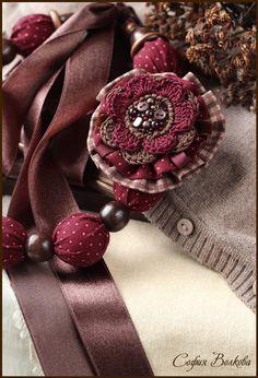 Комплекты украшений ручной работы. Ярмарка Мастеров - ручная работа Комплект Вишня в шоколаде. Handmade.