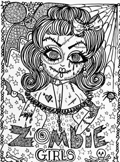find this pin and more on zombiecoloring 22 halloween coloring page