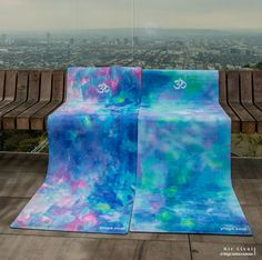 Blue Opal and Monet Yoga Mats available on yogazeal.com