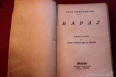 Libros antiguos: Rapaz. Ilyá Ehrenburg. Traducción Gómez de la Serna.Cubierta de Amster. 1931. - Foto 2 - 56497766