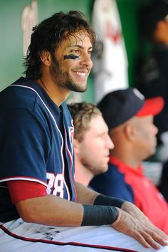 Michael Morse - Nats and their hot looking men. :) tough to figure out to put this in my yummy board or sports board. :)