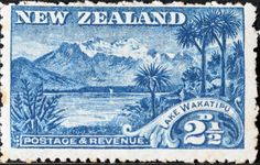 New Zealand 1899 Birds & Landscapes Lake Wakatipu, Mural Painting, Vintage Labels, Tasmania, Botanical Illustration, Postage Stamps, Tapestry, Australia, Commonwealth