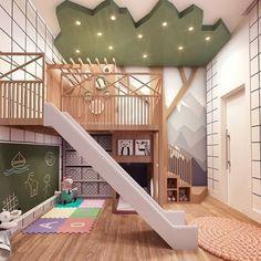 Cool Kids Bedrooms, Kids Bedroom Designs, Room Design Bedroom, Playroom Design, Kids Room Design, Awesome Bedrooms, Cool Rooms, Indoor Playroom, Baby Playroom
