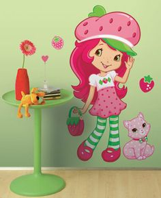 Strawberry Shortcake Scratch N Sniff Giant Wall Decoration Decal