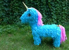 How to make a unicorn piñata out of an old shoebox and leftover cardboard
