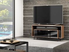 """BDI Cavo 8168 Wide TV Cabinet With Open Soundbar Platform up to 60"""" TV  creates a low-profile silhouette that hugs the wall while providing the perfect home for a flat panel TV and a soundbar speaker.   #Furniture #PriceCrashFurniture #LoungeAndLiving #Lounge #LivingRoom #BDI #Cabinet #TVCabinet #Theater #Television #Soundbar http://pricecrashfurniture.co.uk/bdi-cavo-8168-wide-tv-cabinet-with-open-soundbar-platform-up-to-60-tv.html"""