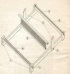 Das Bauen eines Webrahmens mit Kamm