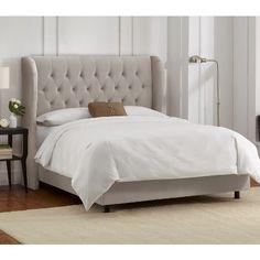 Brompton Tufted Wingback Velvet Upholstered Bed - Skyline Furniture : Target
