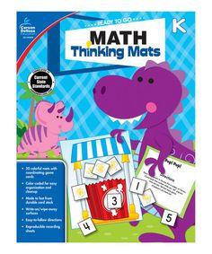 Look what I found on #zulily! Grade K Math Thinking Mats Activity Book #zulilyfinds