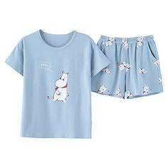 JRMISSLI Cute Women's Pajama Sets Print 2 Pieces Set Crop Top + Shorts women pajamas cotton Plus Size pajamas suit For Women Pijama Plus Size, Plus Size Pajamas, Cute Pajamas, Comfy Pajamas, Shorts Outfits Women, Short Outfits, Cute Outfits, Pajamas For Teens, Pajamas Women