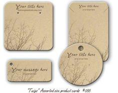 Pendiente tarjetas, tarjetas de joyería, exhibición del collar, pulsera de etiquetas, diseño ramita, etiquetas de productos, tarjetas de joyería personalizada