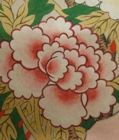 1. 분홍빛 모란 바림하기 (밑바림) 호분(많이) + 홍매 + 양홍 + 연지 + 군청(아주조금) (흰색 + 분홍 + 빨강 + 보라 + 군청) 촌스러운 분홍색이 되지 않도록 각물감의 양을 조절해서 만든다.  바깥 꽃잎은 바림을 연하게 조금만 한다. 안쪽으로 올수록 바림을 많이 진하게 한다.  가운데 부분은 입체감이 생기도록 바림의 방향을 바꿔가면서 한다.  (포인트 바림과 둘레선) 바림 물감 + 연지 + 군청 가운데 부분을 진하게 바림한..