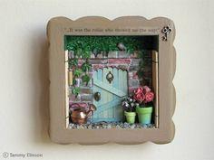 box frame - add dolls house items to create a Beatrix Potter / woodland / garden theme (Nursery)