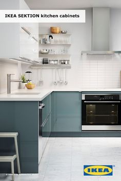 Planning your dream IKEA kitchen? You can choose from a huge selection of cabinets, including models designed to hold appliances, so you can create your ideal layout. Then browse our doors and handles to find the look you like – from wood to high gloss.