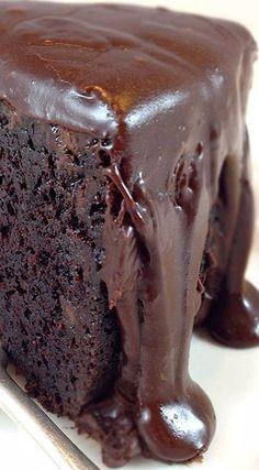 Famous Brick Street Chocolate Cake with Ganache Icing.