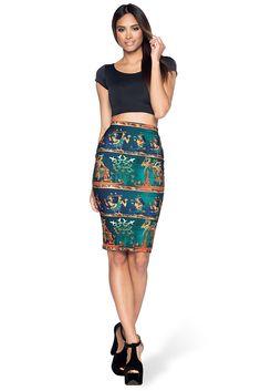 The Nile Midi Pencil Skirt – Black Milk Clothing