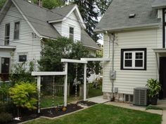 Rain Chain Aqueduct for gutter downspout, Aqueduct for water from roof. Passes over the