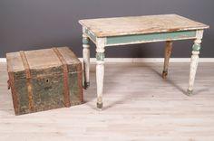 2055 Arkku ja pöytä Antiques, Table, Furniture, Home Decor, Antiquities, Antique, Decoration Home, Room Decor, Tables