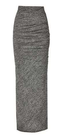 OCTAVIA FITTED ROUCHED MAXI SKIRT