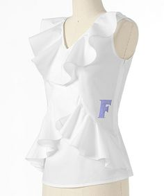 Take a look at this White Florida Ruffle Sleeveless Top - Women by Meesh & Mia on #zulily today!