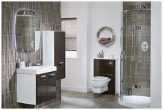 Contemporary plum bathroom furniture from Utopia Bathrooms. Plum Bathroom, Dark Bathrooms, Bathroom Inspo, Beautiful Bathrooms, Ideal Home Magazine, Fitted Bathroom Furniture, Contemporary Bathroom Designs, Toilet Room, Modular Furniture