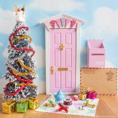 Magical Christmas Fairy Door with Christmas Fairy Door accessories