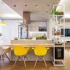 ilha na cozinha em loft