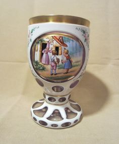 Vintage Early Meissen Bohemian Hand Painted by Pizzelwaddels, $450.00