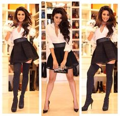 Need a white blouse with black skirt like Leyla Milani's