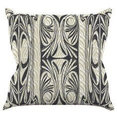 Kess InHouse Pom Graphic Design Tribal Leaves 23 x 23 Square Floor Pillow