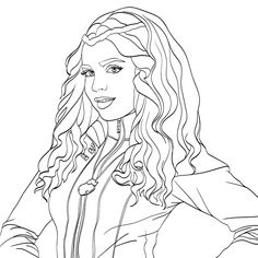 Evie Descendants 2 Coloring Page